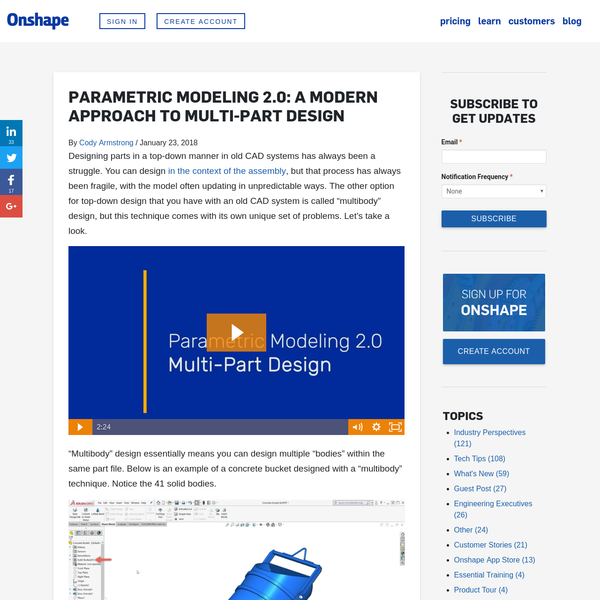 Parametric Modeling 2.0: A Modern Approach to Multi-Part Design