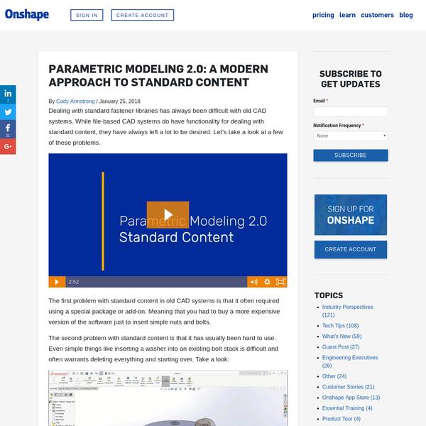 Parametric Modeling 2.0: A Modern Approach to Standard Content