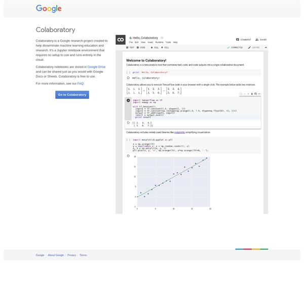 Colaboratory - Google