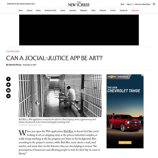 Can a Social-Justice App Be Art?