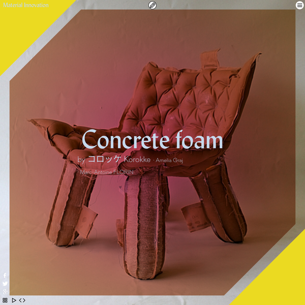 Concrete foam on penccil