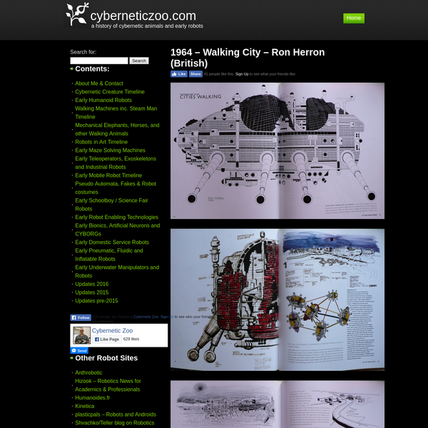 1964 - Walking City - Ron Herron (British) - cyberneticzoo.com