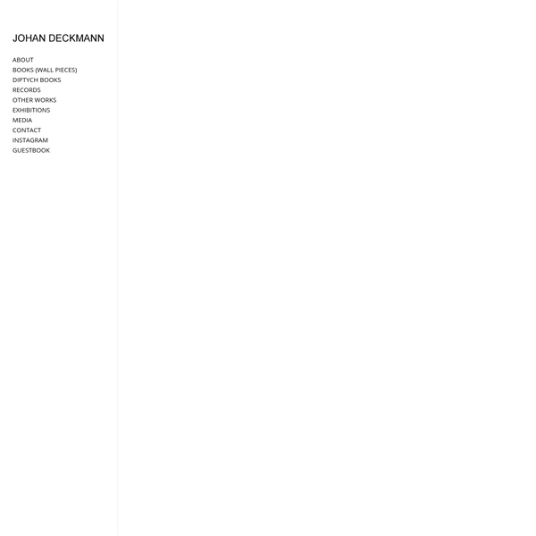 books - johan deckmann
