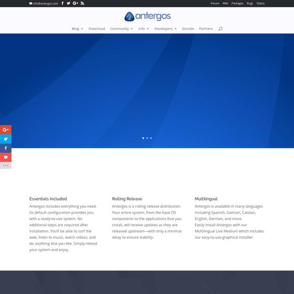Antergos | Your Linux. Always Fresh. Never Frozen.