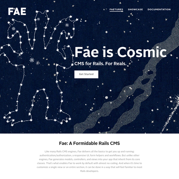 Fae CMS   A Flexible, Open-Source, Ruby On Rails CMS Gem