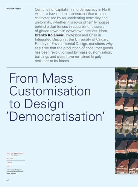 From Mass Customisation to Design 'Democratisation'
