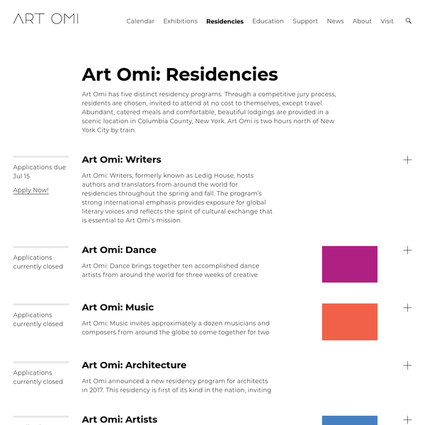 Art Omi is a non-profit residency program for international visual artists, writers, musicians + dancers. Home to The Fields Sculpture Park + Architecture Omi.