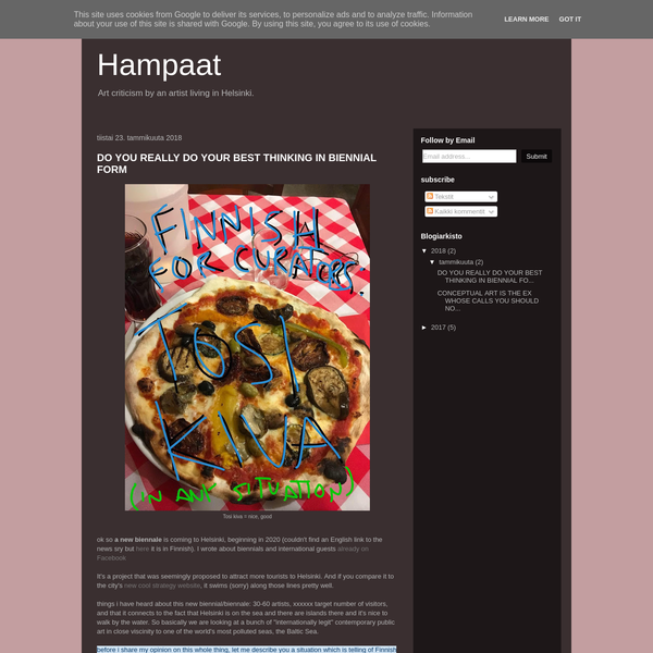 Kimmo Modig: Hampaat / art criticism