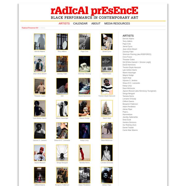 Artists | Radical Presence NY