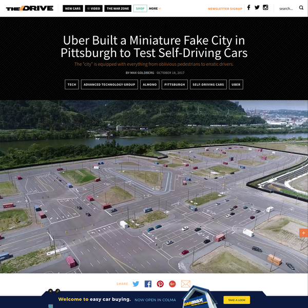 Uber Built a Miniature Fake City in Pittsburgh to Test Self-Driving Cars