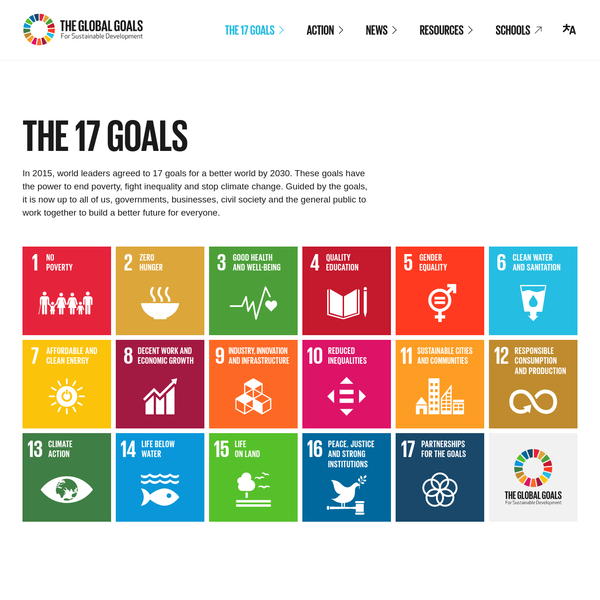 In 2015, world leaders agreed to 17 goals for a better world by 2030. These goals have the power to end poverty, fight inequality and stop climate change. Guided by the goals, it is now up to all of us, governments, businesses, civil society and the general public to work together to build a better future for everyone.
