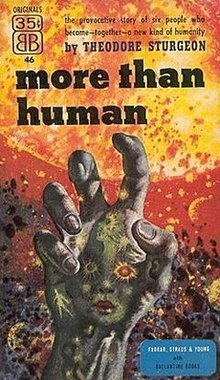 *More Than Human* by Theodore Sturgeon, 1953  Recommended by [Samuel R. Delany](https://thecreativeindependent.com/people/samuel-r-delany-on-getting-an-education/)