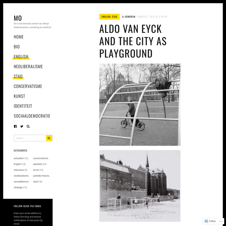 In 1947, the architect Aldo van Eyck built his first playground in Amsterdam, on the Bertelmanplein. Many hundreds more followed, in a spatial experiment that has (positively) marked the childhood of an entire generation. Though largely disappeared, defunct and forgotten today, these playgrounds represent one of the most emblematic of architectural interventions in a pivotal...