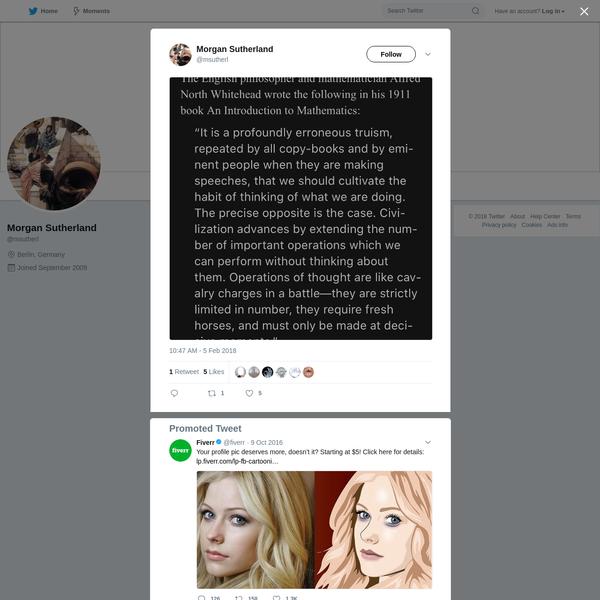 Morgan Sutherland on Twitter