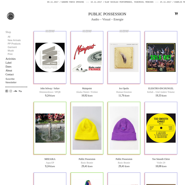 Products Archive - Public Possession
