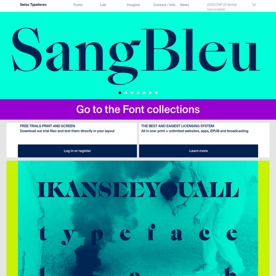 Swiss Typefaces Imagine - custom and exclusive type design and licensing