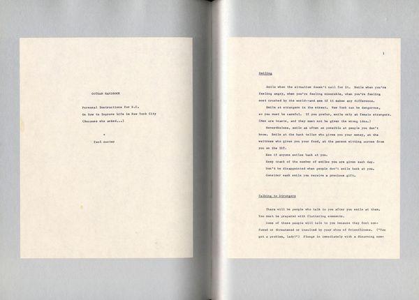 Gotham Handbook - Sophie Calle/ Paul Auster