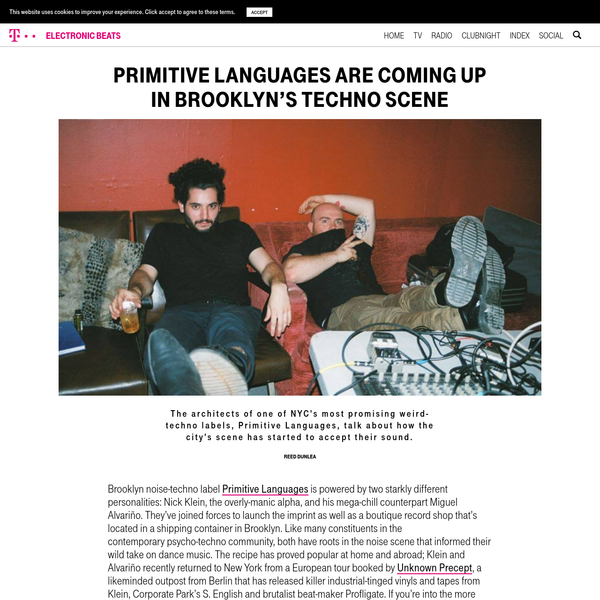 Primitive Languages are Coming Up in Brooklyn's Techno Scene - Telekom Electronic Beats