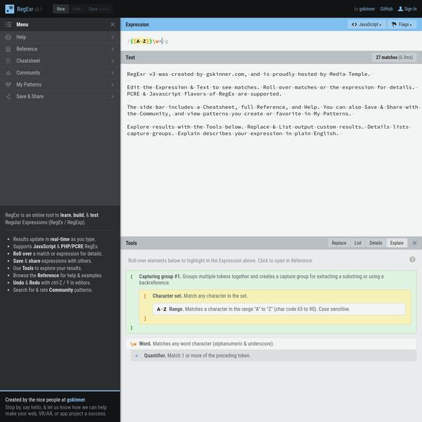 RegExr: Learn, Build, & Test RegEx