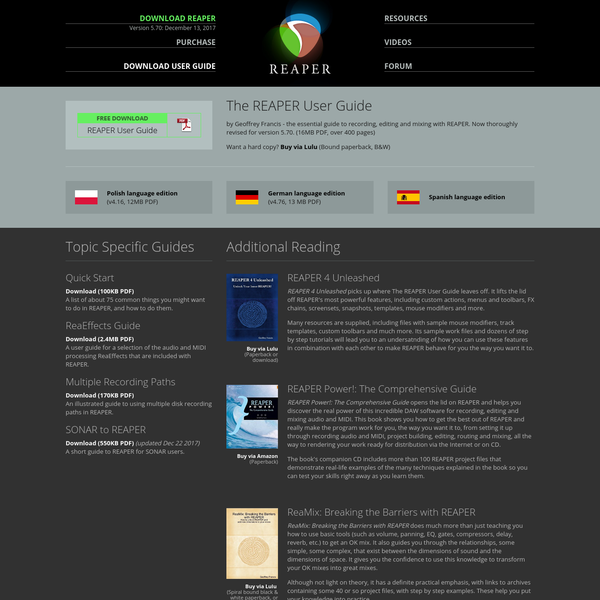 REAPER | User Guide