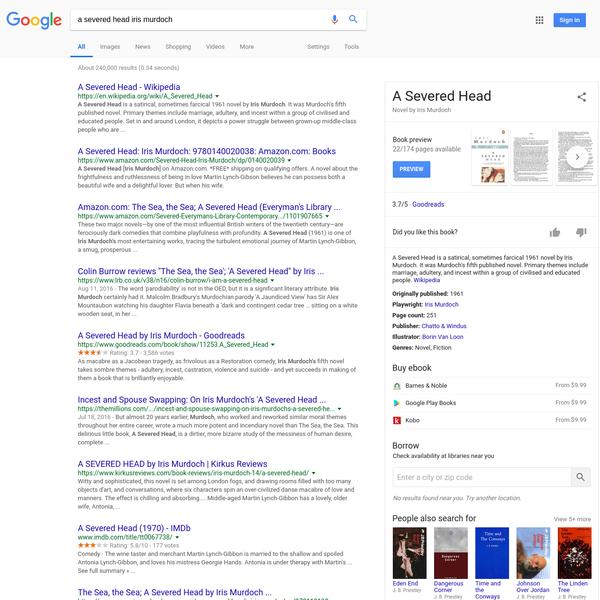 a severed head iris murdoch - Google Search