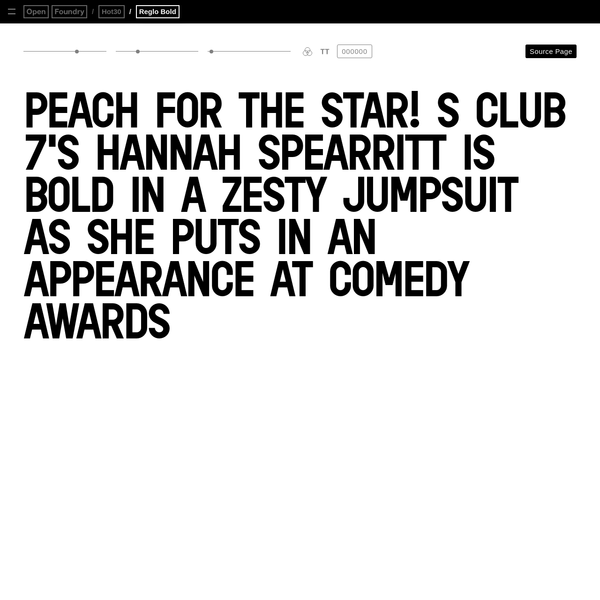 Reglo Bold is a geometric sans serif. It was initially designed for the identity of Radio Panik with Open Source Publishing.