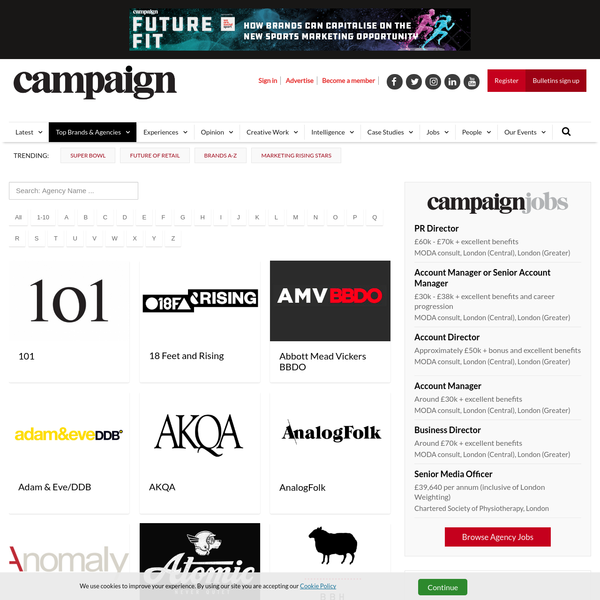 Agency A-Z Directory | Campaign