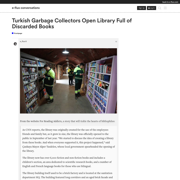 image] From the website For Reading Addicts, a story that will tickle the hearts of bibliophiles: As CNN reports, the library was originally created for the use of the employees friends and family but, as it grew in size, the library was officially opened to the public in September of last year.