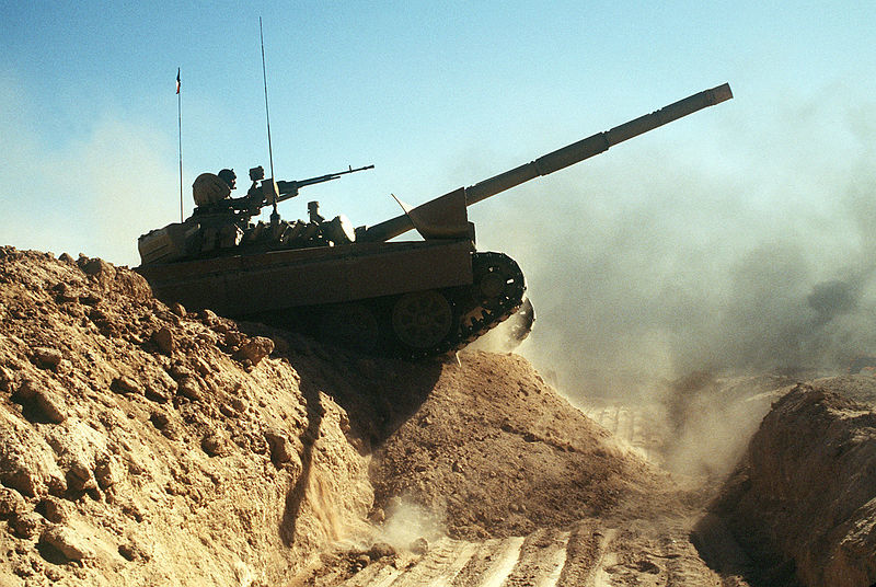 800px-A_Kuwaiti_M-84AB_tank_crosses_a_trench_during_Operation_Desert_Shield.JPEG