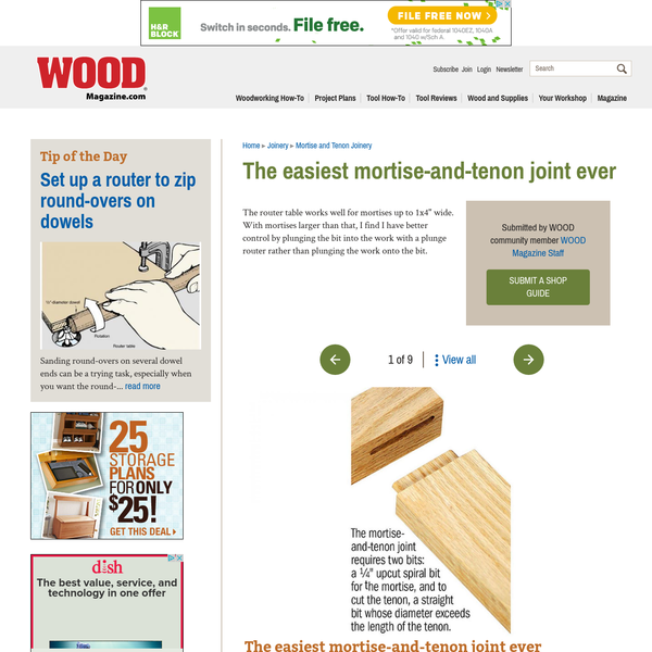 The easiest mortise-and-tenon joint ever