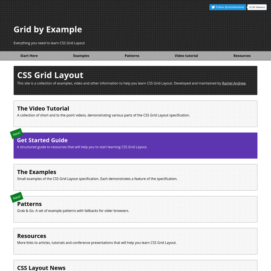 A collection of short and to the point videos, demonstrating various parts of the CSS Grid Layout specification.