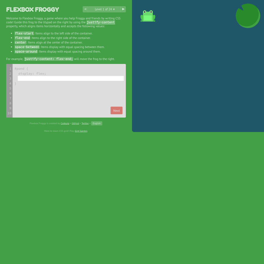 A game for learning CSS flexbox