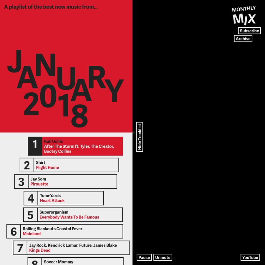 A playlist of the best new music from January 2018.