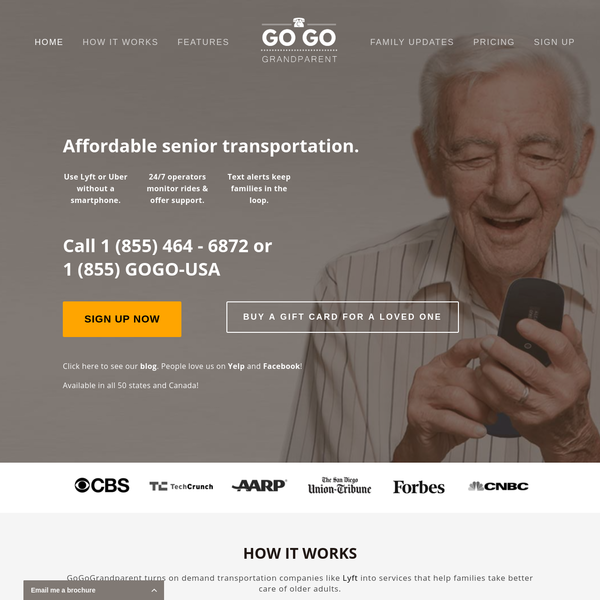 GoGoGrandparent - Use Lyft and Uber Without A Smartphone