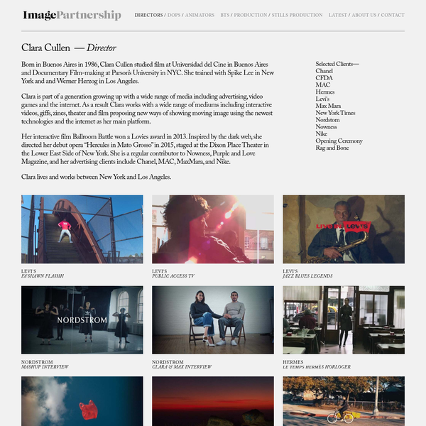 Image Partnership - Clara Cullen, Director