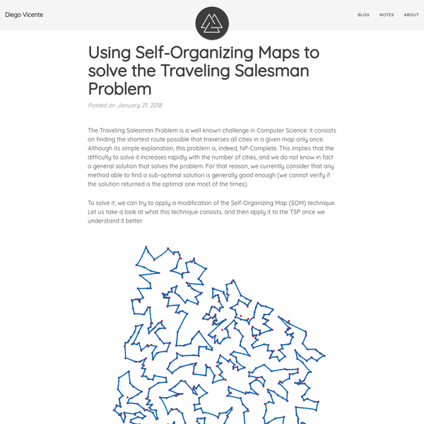 Using Self-Organizing Maps to solve the Traveling Salesman Problem