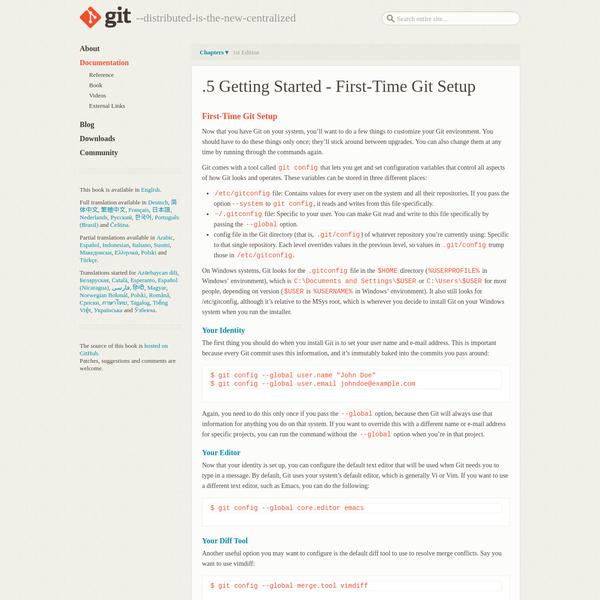 Git - First-Time Git Setup