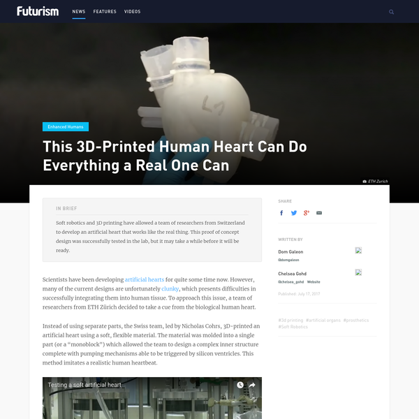 This 3D-Printed Human Heart Can Do Everything a Real One Can