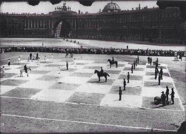 Human scaled chess Leningrad ca. 1924