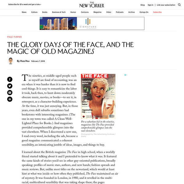 The Glory Days of The Face, and the Magic of Old Magazines