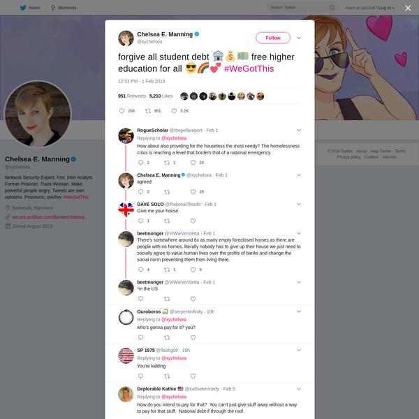 Chelsea E. Manning on Twitter