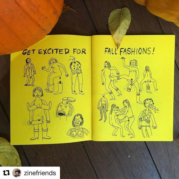 """940 Likes, 15 Comments - Lisa Hanawalt (@lisadraws) on Instagram: """"regram @zinefriends this seasonally appropriate page from one of my old mini comics 🎃"""""""