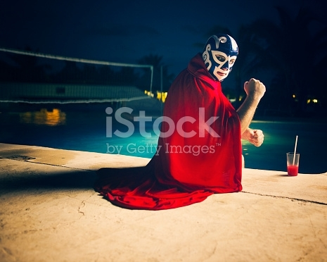Download this Mexican Luchador By The Pool photo now. And search more of the web's best library of royalty-free stock images from iStock.