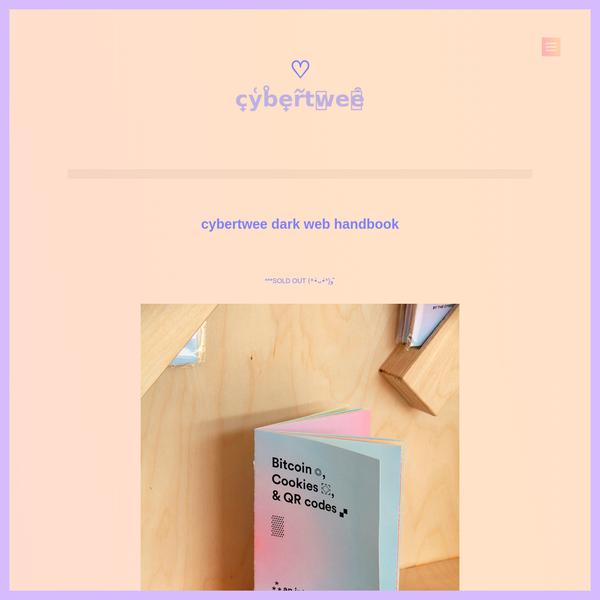 cybertwee dark web handbook
