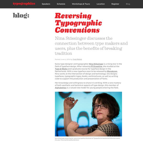 Reversing Typographic Conventions - Typographics Blog