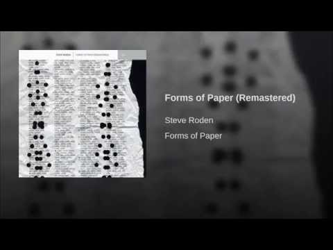 Provided to YouTube by Virtual Label LLC Forms of Paper (Remastered) · Steve Roden Forms of Paper ℗ 2011 LINE Released on: 2011-11-22 Composer: Steve Roden Auto-generated by YouTube.