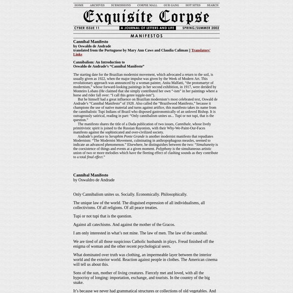 Exquisite Corpse - A Journal of Letters and Life
