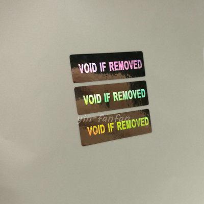 Laser Hologram Security Warning Label