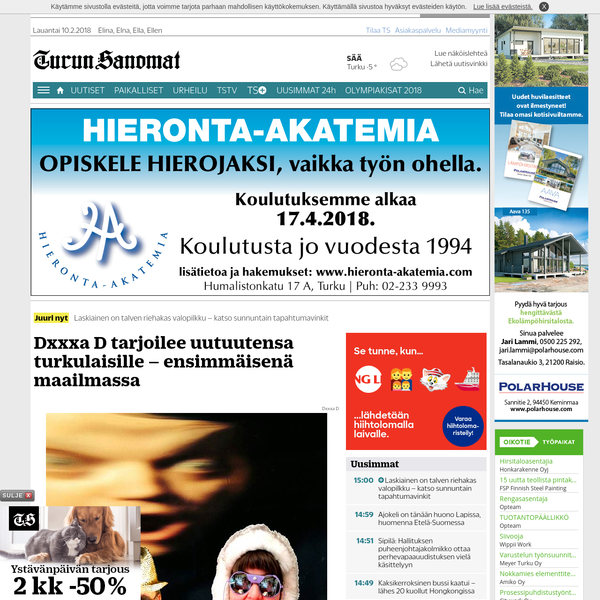 Turun Sanomat writes about the video Biitsi directed