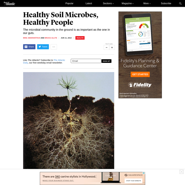 Healthy Soil Microbes, Healthy People